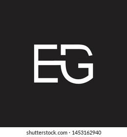 EG intial logo Capital Letters black background