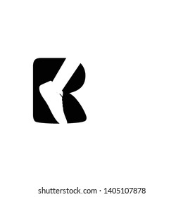 Intial r letter and run logo