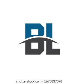Intitial letter logo B and L, BL/LB monogram logo icon