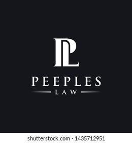 Intitial letter logo P and L, PL / LP monogram logo icon
