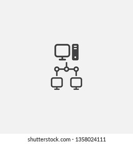 intranet Glyph icon. Simple sign illustration. intranet symbol design. Can be used for web, print and mobile