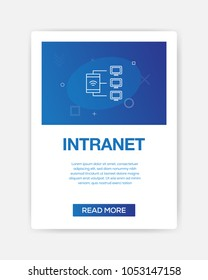 INTRANET ICON INFOGRAPHIC