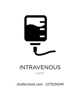 intravenous icon vector on white background, intravenous trendy filled icons from Alert collection, intravenous simple element illustration