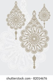 intricate flower motif