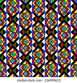 Intricate Geometric Ethnic Pattern
