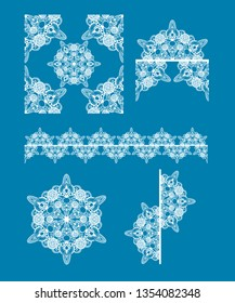 Intricate lace pattern and icon