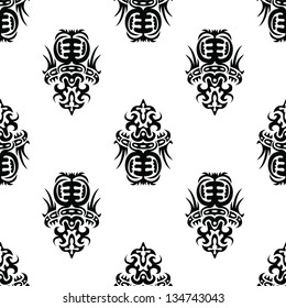 The intricate pattern in antique style for your design (CMYK)