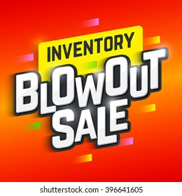 Inventory Blowout Sale banner. Vector illustration.