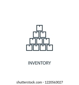 inventory concept line icon. Simple element illustration. inventory concept outline symbol design. Can be used for web and mobile UI/UX