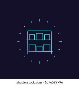 inventory vector line icon