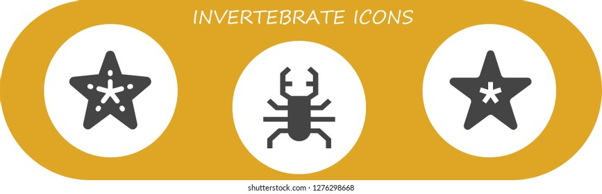 invertebrate icon set. 3 filled invertebrate icons. Simple modern icons about  - Starfish, Beetle