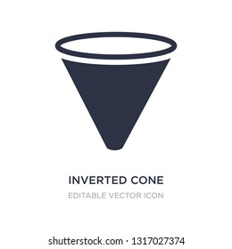 inverted cone icon on white background. Simple element illustration from Shapes concept. inverted cone icon symbol design.
