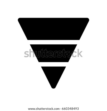 inverted pyramid stock vector royalty free 660348493 shutterstock