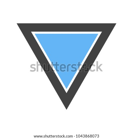 Inverted Triangle Icon Stock Vector Royalty Free 1043868073