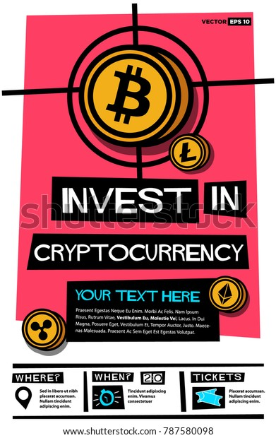 cryptocurrency investing flyer
