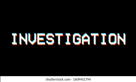 investigation graphic cover thumbnail vector