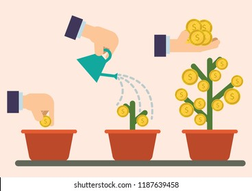 Investment flat illustration