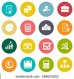 investment icons, business management icons, finance and strategy icons