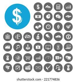 Investment icons set. Illustration EPS10