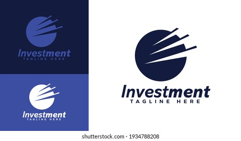 Investment logo template, Investment business. Financial Advisors Market Charts Logo abstract vector template design