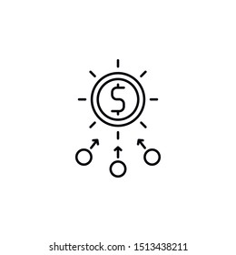 Investment, microeconomic icon. Element of business icon. Thin line icon