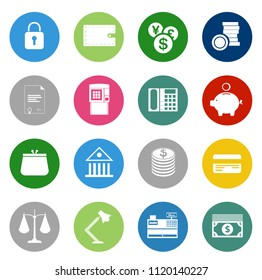 investment, money, finance and banking icons - business management strategy icons