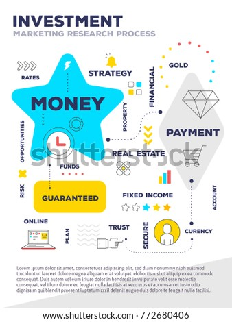 investment template composition concept web poster stock vector