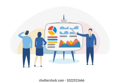 Investments for beginners. Banner in a flat style. Smart investment, finance and banking, strategic management, financial analysis, trade exchange in foreign exchange market. Vector illustration.