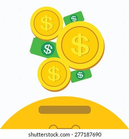 investment,saving sign,ideas concepts.vector illustration.