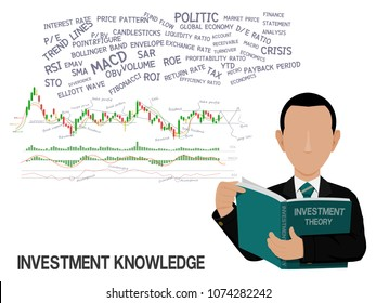 An investor is learning about investment knowledge