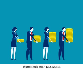 investor and profit. Concept buisness vector illustration, Investment, Financial, Growth