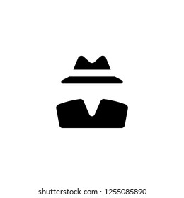 invisible person of clothes icon vector. invisible person of clothes vector graphic illustration