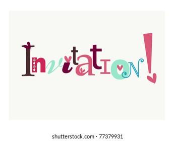 Invitation anniversaire stock illustrations images vectors invitation stopboris Choice Image