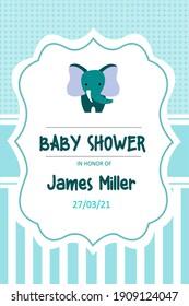 Invitation Baby Shower Illustration  Vector