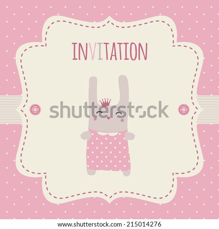 Invitation Baby Shower Party Birthday Party Stock Vector (Royalty ...