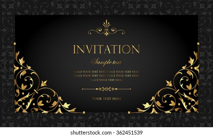 Invitation card design images stock photos vectors shutterstock invitation card stopboris Choice Image