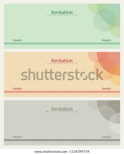 Invitation Card Design Stock Vector Royalty Free 1134399734
