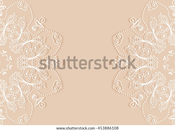 Invitation Card Design Lace Pattern Decorative Stock Vector (Royalty