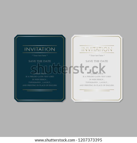 Invitation Card Design Layout Stock Vector Royalty Free