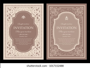 Invitation card design - vintage style