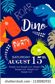 Invitation card for a dinosaur party