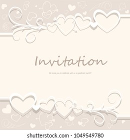 Invitation card for the festive event