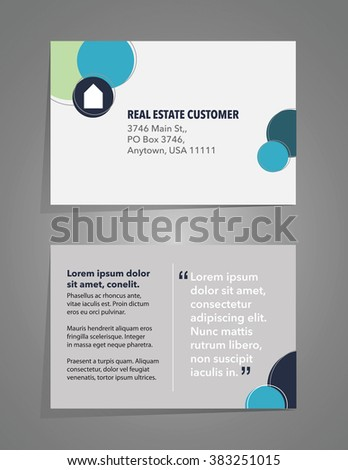 invitation card layout real estate theme stock vector royalty free