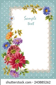 invitation card, pattern, background, floral frame