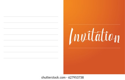 Invitation card simple style collection