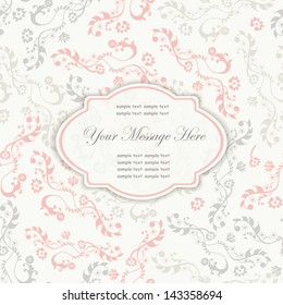 invitation card with space for your text
