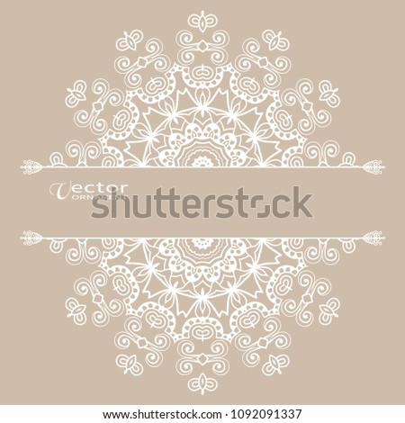 Invitation Card Template Hand Drawn Floral Stock Vector