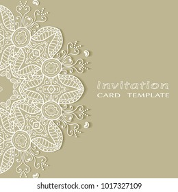 henna mehndi card template mehndi invitation stock vector royalty