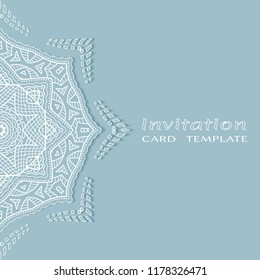 template greeting card mandala dot painting stock vector royalty