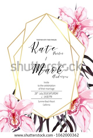 invitation card template wedding save date stock vector royalty